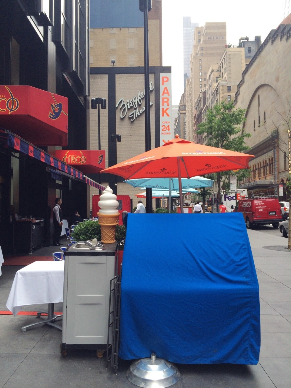 A fake ice cream cone / Stands in form all day long, No / Point in being real. #haiku #nyc