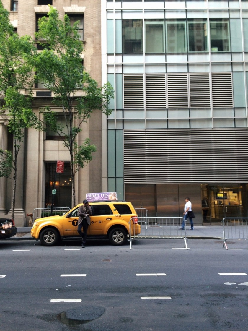 Private eyes rest on top/ Of a Yellow taxi cab/ Sponsored Advertising. #Haiku #nyc
