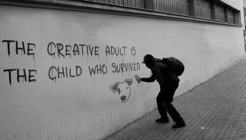 """The creative adult is the child who survived."""" (via Brilliant_Ads)"""