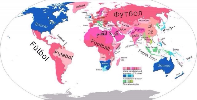"Which countries call it ""Football"" versus ""Soccer"""