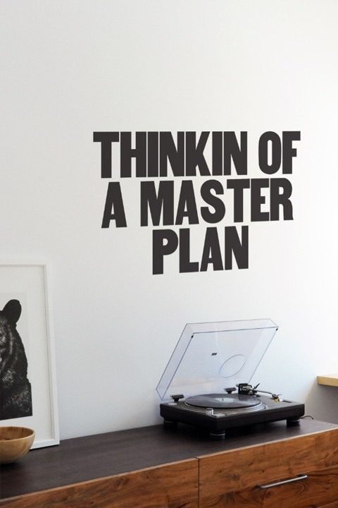 Rap wall decal from Paper Jam Press (via Swiss Miss)