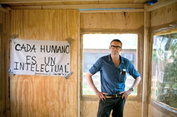 """""""My goal or my dream is not so much about changing the situation of the people who help me, but about showing the power of art to make people think about issues they otherwise wouldn't have thought about."""" - Thomas Hirschhorn"""