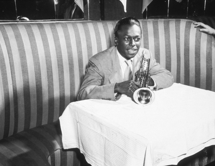 """""""I'm always thinking about creating. My future starts when I wake up in the morning and see the light."""" Happy Birthday, Miles Davis."""