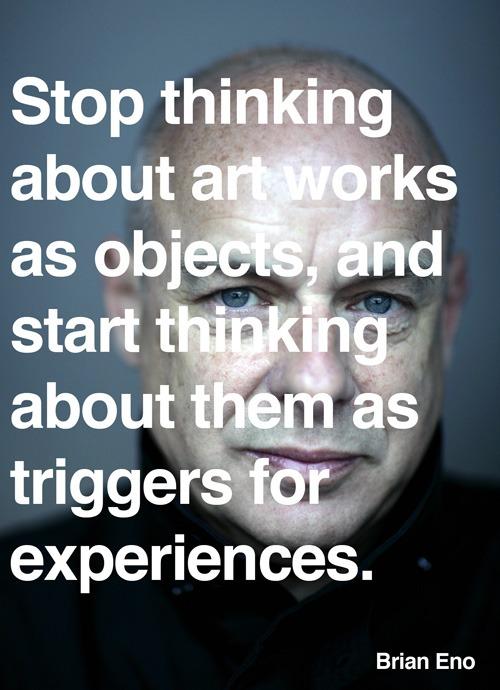 explore-blog: Brian Eno, born on May 15, 1948, on art.