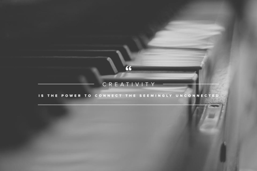 You hear it all the time but it's true.  Creativity is just connecting disparate things, shipping them, and seeing what works.