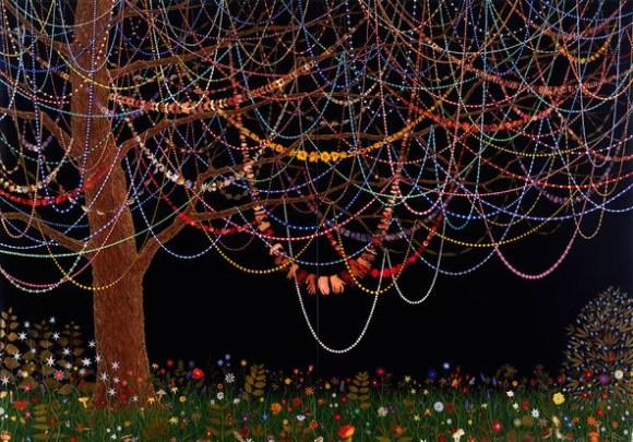 """""""Hang Over"""" (2005) by Fred Tomaselli: the art world's """"drug guy."""""""