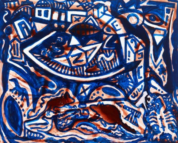 """Landscape - Remote"" by A. R. Penck (2011) Quite good for an artist that ""had failed even to get into art school."""