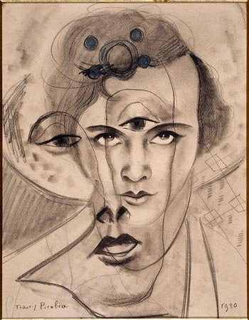 """(Olga by Francis Picabia, 1930) Surrealism: a movement whose only goal consisted of total brain liberation. """"Drawing Surrealism"""" exhibition at the Morgan Library"""