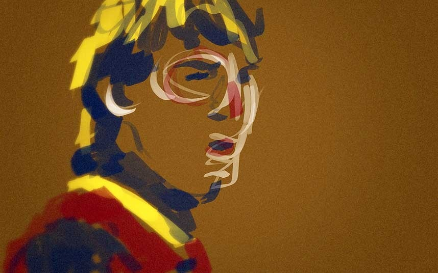 Lionel Messi art in theFantasista 2013 Exhibition.  Wenger too.