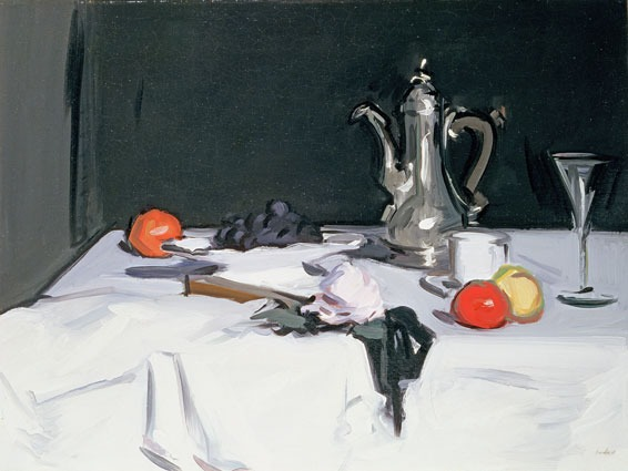 The Coffee Pot (1909) There is so much in mere objects, flowers, leaves, jugs, what not – colours, forms, relation – I can never see mystery coming to an end.  - Samuel Peploe