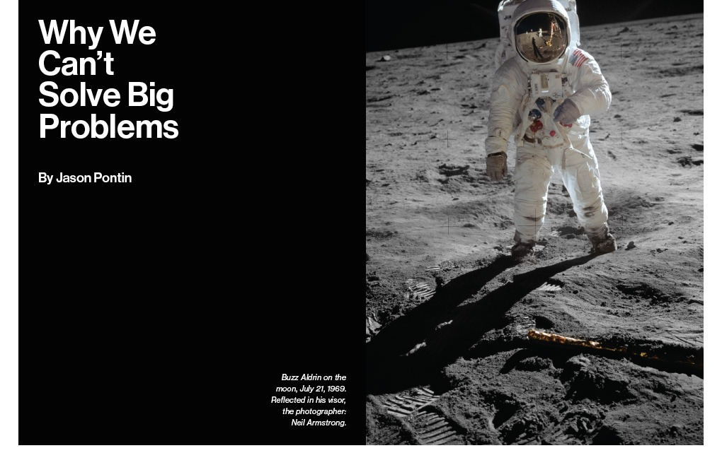 """Sometimes we choose not to solve big technological problems. We could travel to Mars if we wished. NASA has the outline of a plan—or, in its bureaucratic jargon, a """"design reference architecture."""" """"Why We Can't Solve Big Problems"""