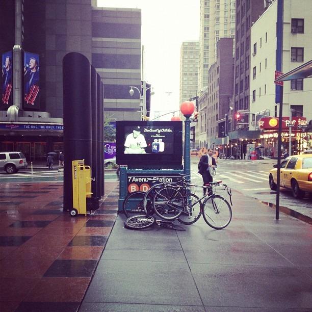 Rain, Big Apple (Taken with Instagram at 1700 Broadway)