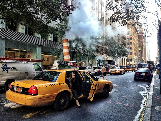 October: Golden Sunshine and City Smoke on Flickr. On my way to work this morning.