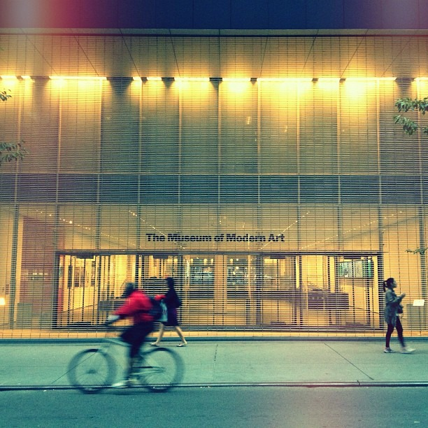 Taken with Instagram at Museum of Modern Art (MoMA) The @MuseumModernArt is even stunning when it's closed.  (2x)