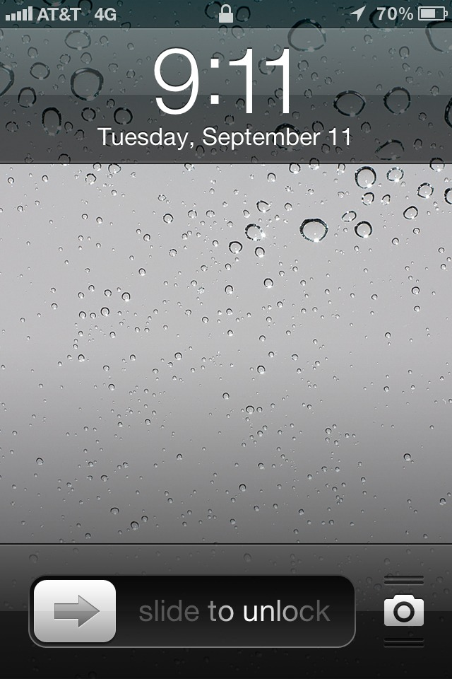 A bit eerie seeing this on my phone this morning.