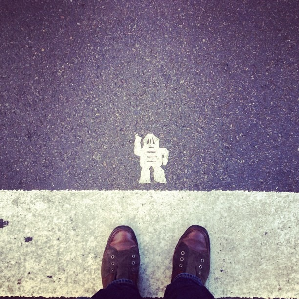 Still got Marshmallow Man stuck on my shoe from this morning. (Taken with Instagram at 47th & 6th)