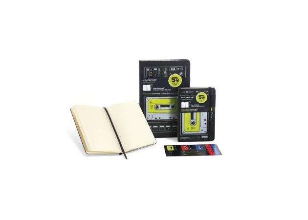 Moleskine celebrates the 50th anniversary of the audio cassette.  No Vinyl version?