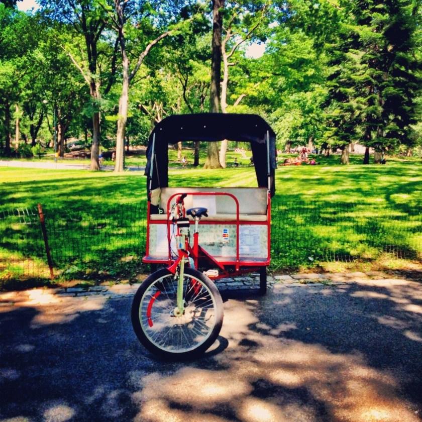 A healthy ride through Central Park.