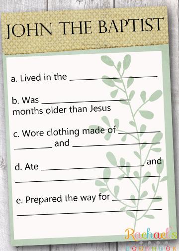 John baptist prepared way jesus christ, jesus loves you coloring page
