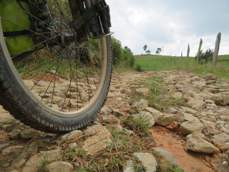 roads here are surprisingly rough and yet surprisingly rideable