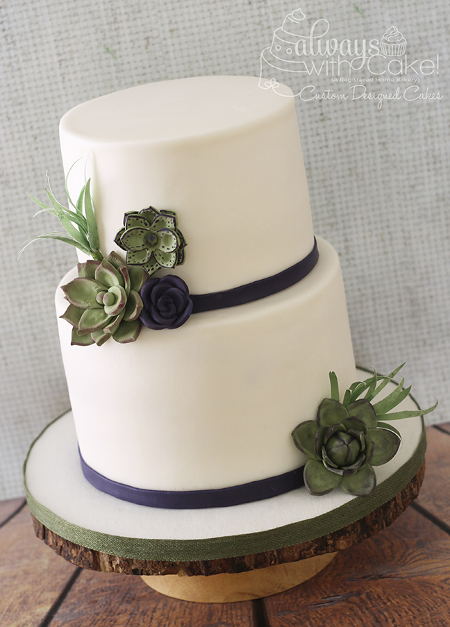 Wedding Cakes   Phoenix AZ Cakes   Queen Creek AZ Cakes   Scottsdale     Succulent Wedding Cake