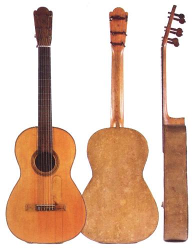 1862 Antonio Torrespapier-mâché guitar.