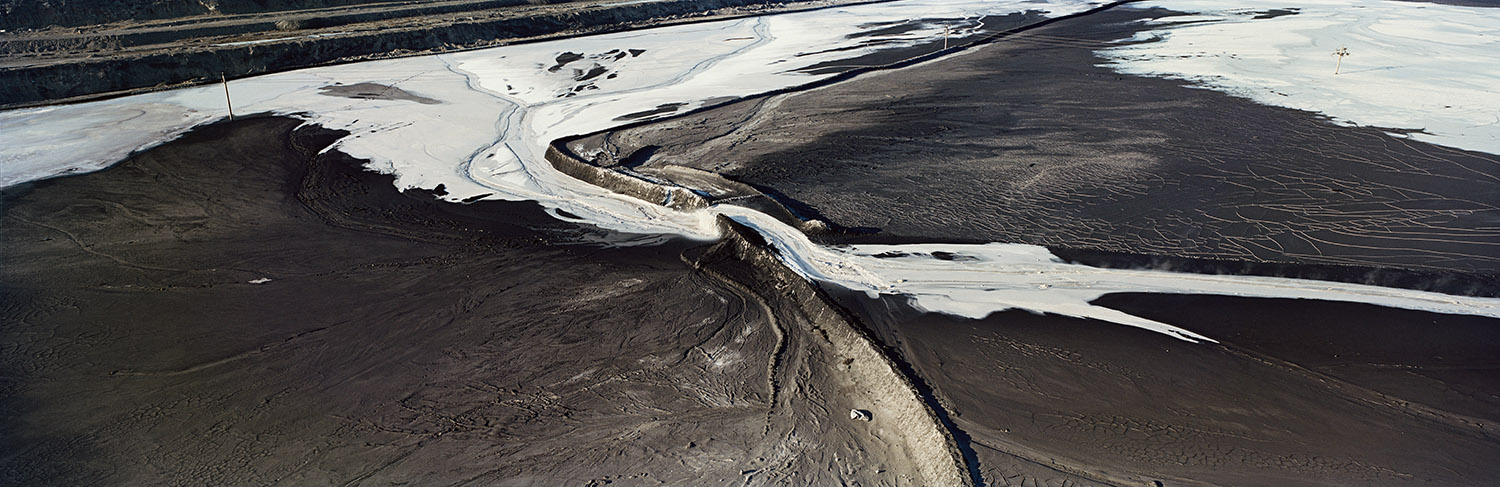 Coal, Ash and Snow. Wuhai, Inner Mongolia, China.