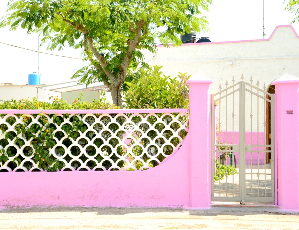 Cute pink building I spotted while on our way to Punta Prosciutto.