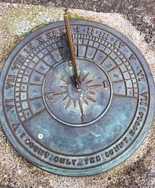 This Victorian sun dial declares,