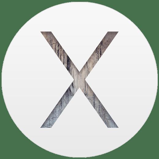 The logo of Mac OS 10.10