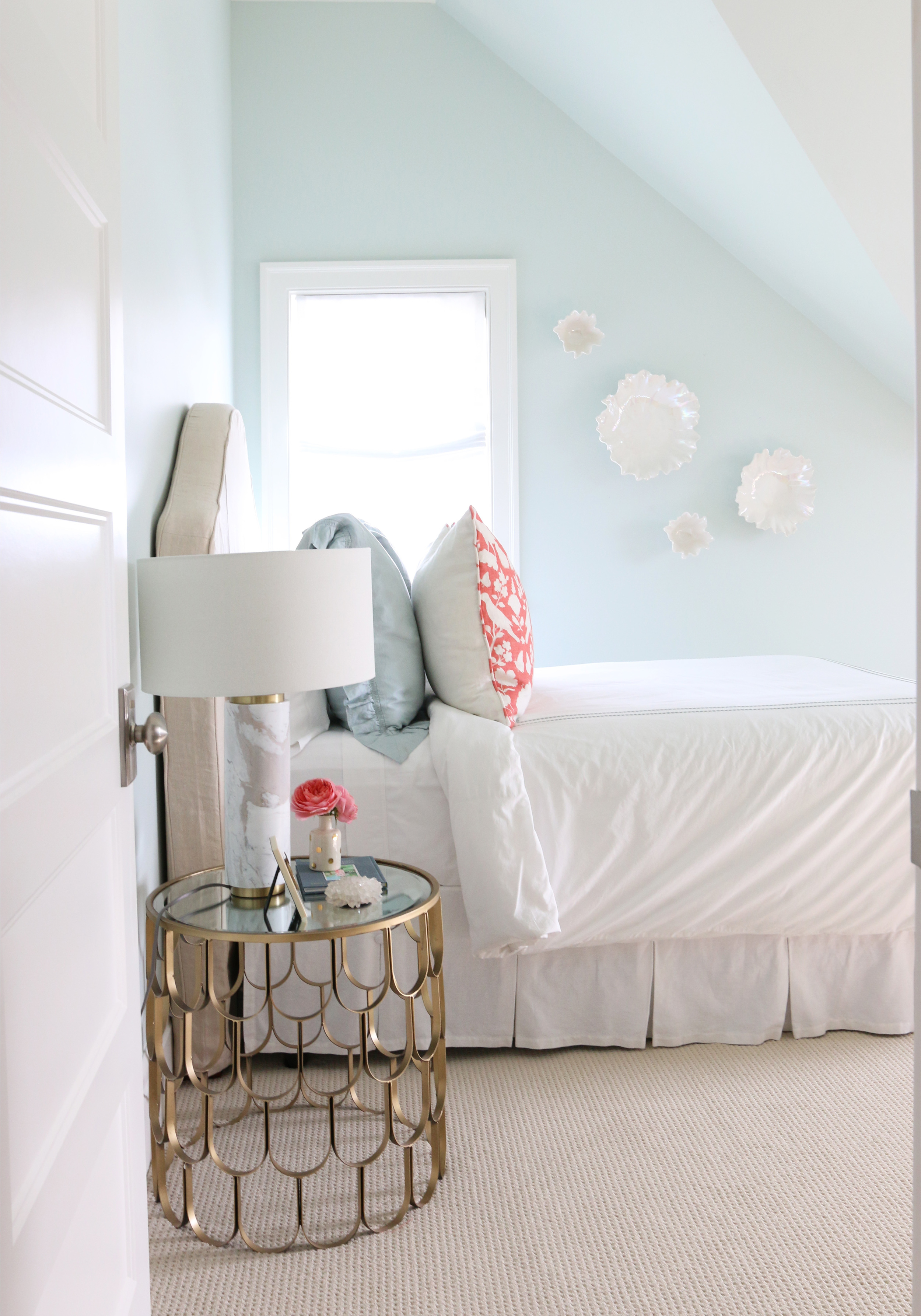 The Midway House Blue And Coral Guest Room STUDIO MCGEE