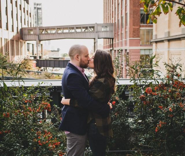High Line Park Nyc Engagement Photos Elvira Kalviste