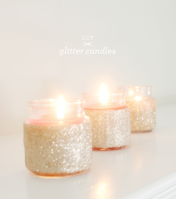DIY: Glitter Candles from Brunch at Saks!