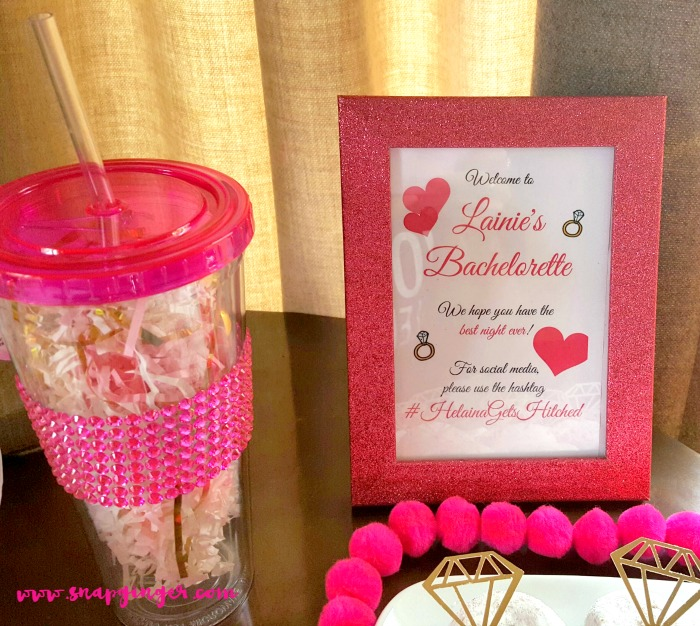 Here'sthe printable in action at my bestie's Bachelorette Bash!