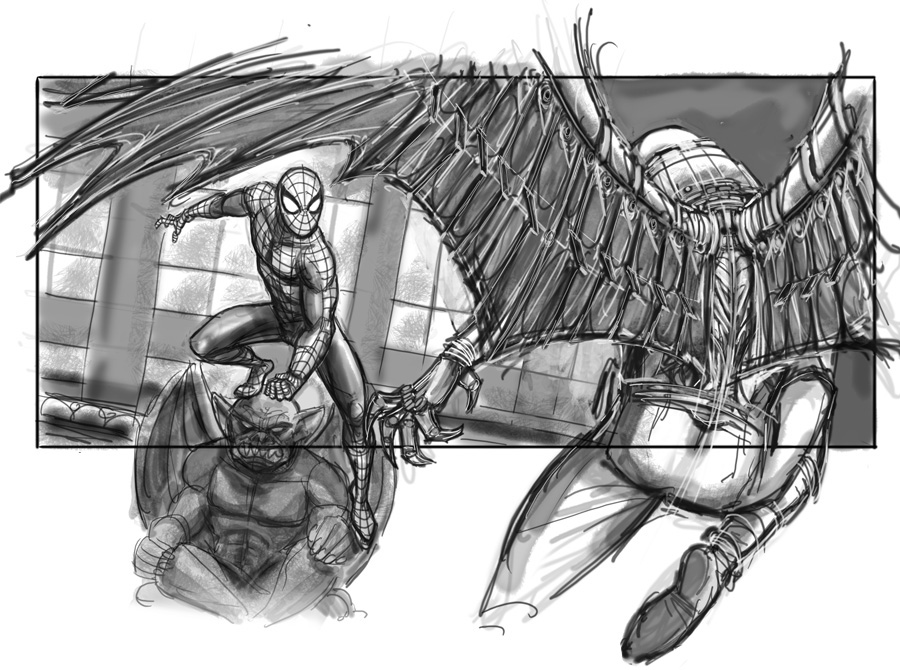 Sam Raimi's Spider-Man 4 Concept Art Revealed 6