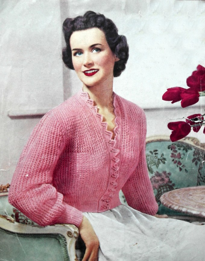 Vintage knitting pattern images