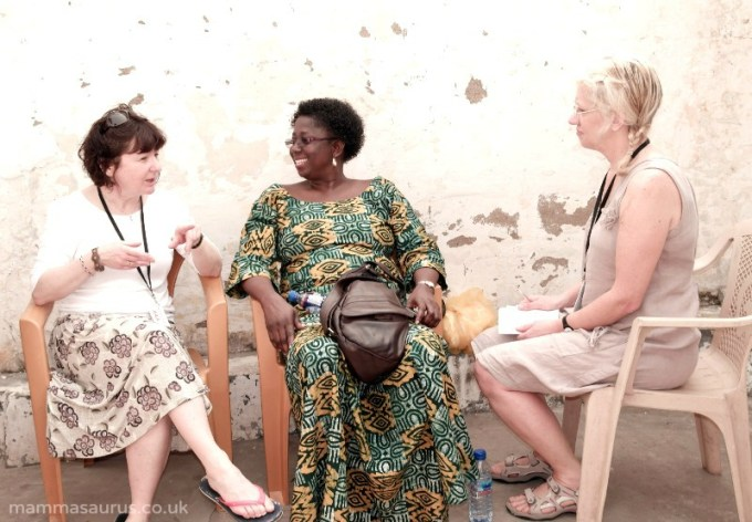 Jane Garvey and Angela Robson from BBC 4's Womans Hour in Ghana with Comic Relief #goodwork