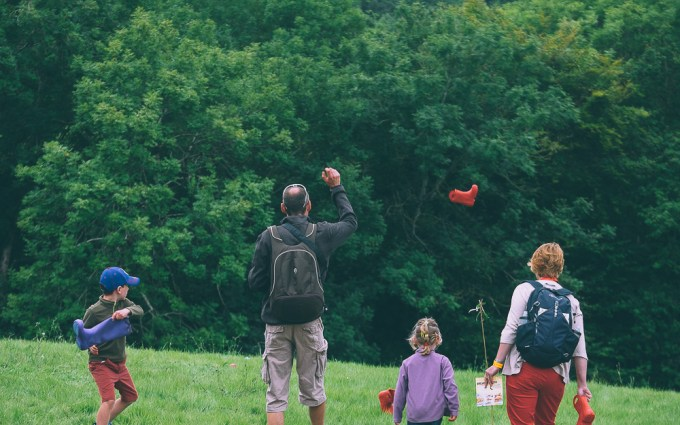 Welly wanging at River Cottage Summer Fair