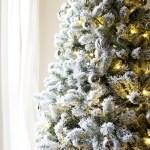 A Simple Modern Flocked Christmas Tree Tag Tibby Design