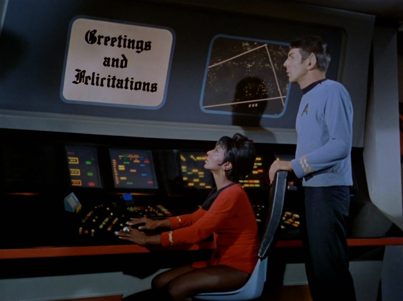 Spock and Uhura read together.