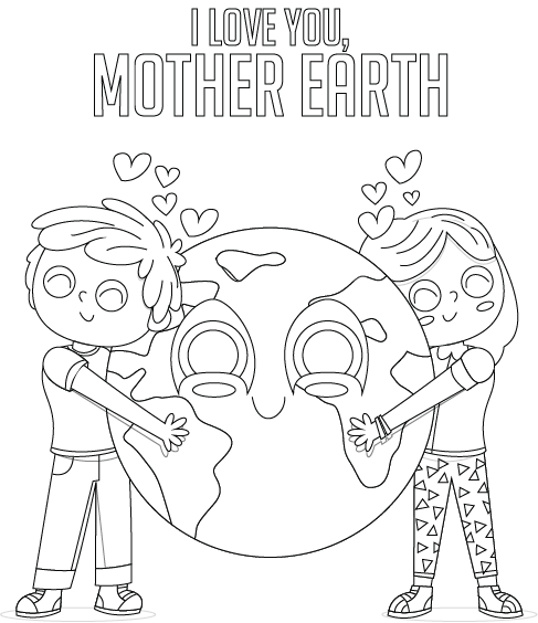 Mother Earth Pdf Printable Coloring Page Say Yes To Jess
