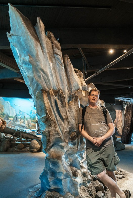 My brother Eric in front of the glacier exhibit he sculpted for the Yosemite Visitor's Center.Prolost Geartrain GT02 profile, all processing done in Lightroom CC for iOS.