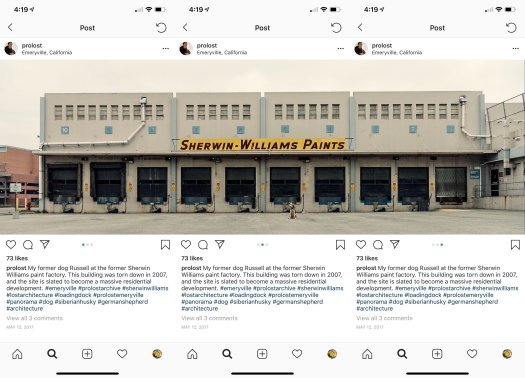 Panogram splits a photo into tiles that can be reassembled into a multi-image post in Instagram.