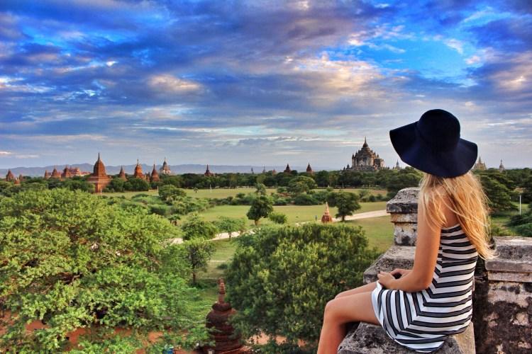 Útsýni yfir Bagan, hér finnast yfir 2.500 mismunandi hof