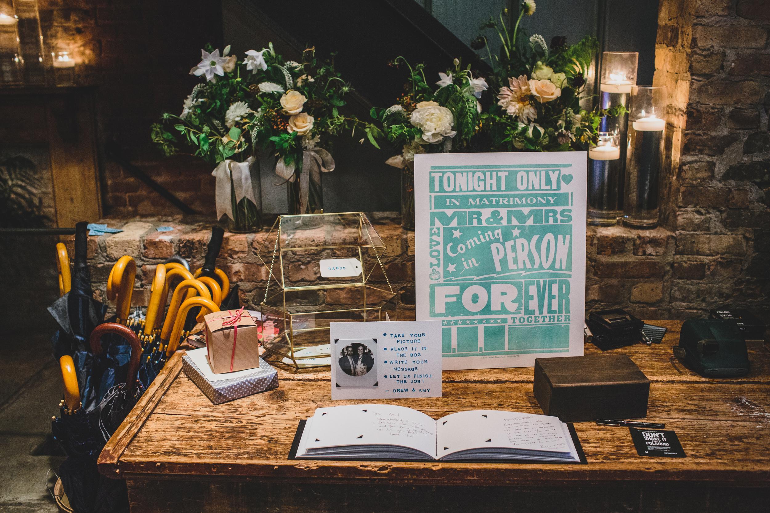 A Wedding Guest Book Filled With Polaroids Linenlaidampfelt