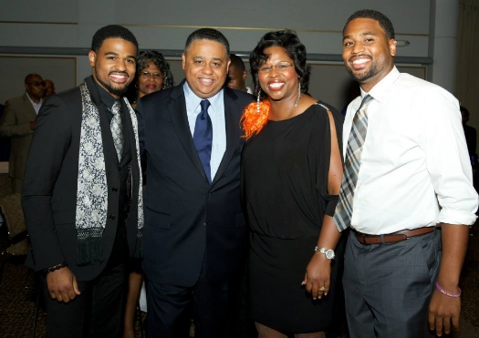 Dr. Debbie Bullock with her husband, Dr. Christopher Bullock and sons Nathaniel and Daniel