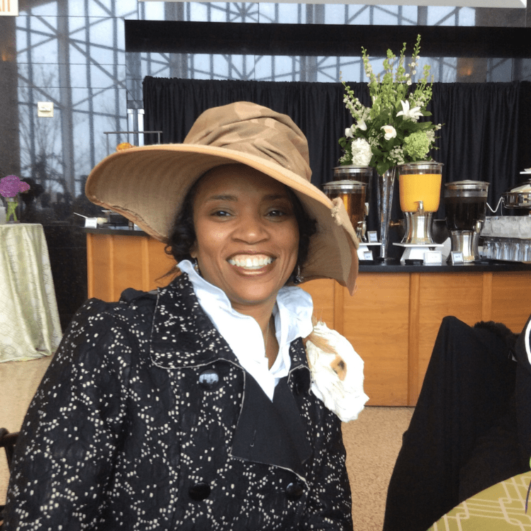 Dr. Monique Hanna of Delaware enjoying the occasion
