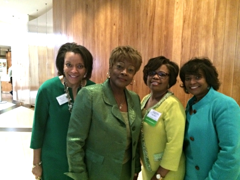 with International President Dr. Beverly Glover and Local President Dr. Gwendolyn Young and Rev. Monique Carter