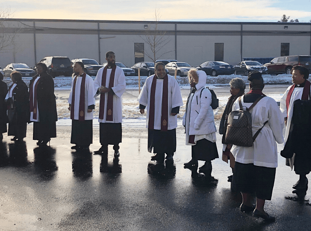 Ministers of Morning Star Baptist Church ready to march into new church photo Robilyn Heath