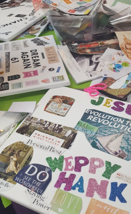 vision boards in progress